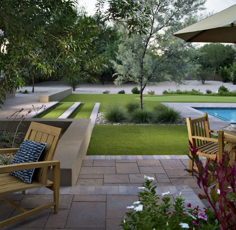 Backyard lawn 790x770