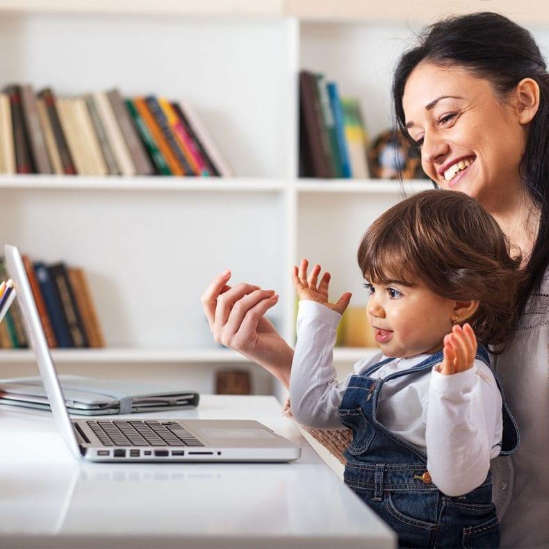 Children watch video on computer 790x790