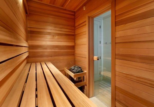 Private home sauna