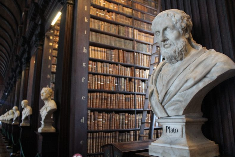 Plato in Trinity college library 790x527