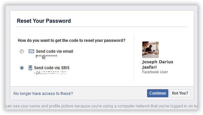 reset facebook