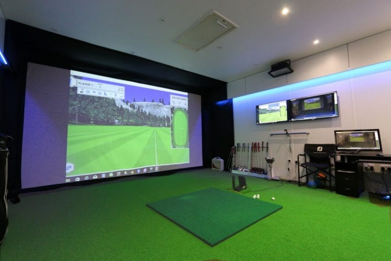 space for golf simulator 790x527