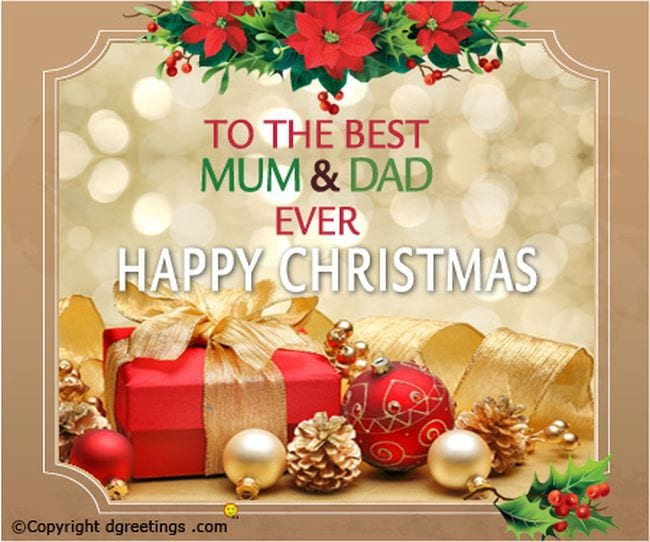 christmas card for mom and dad