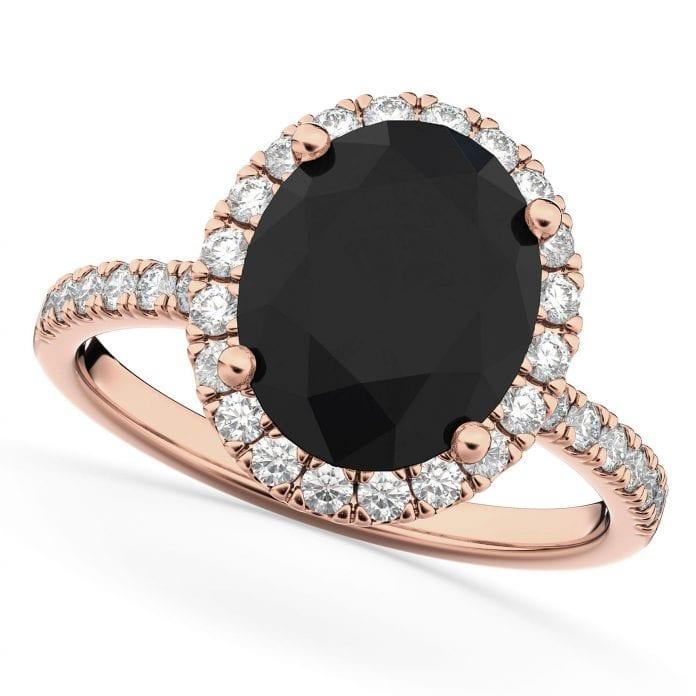 wedding rings with black diamond- segal