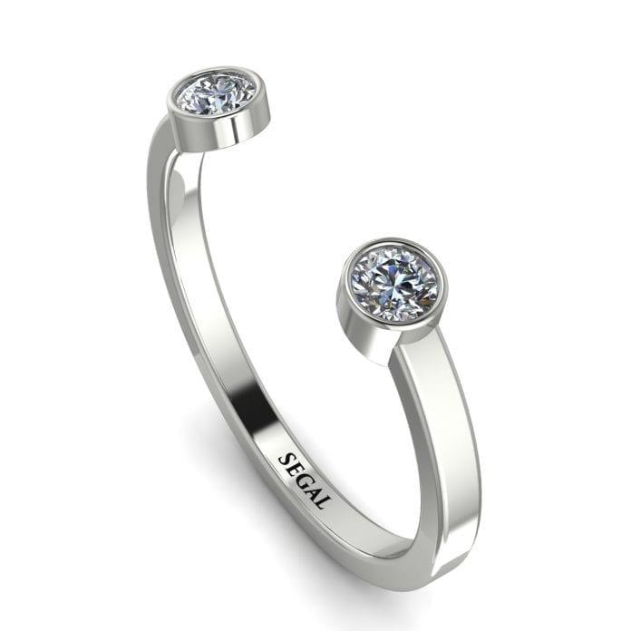 Open Bezel Diamond Ring