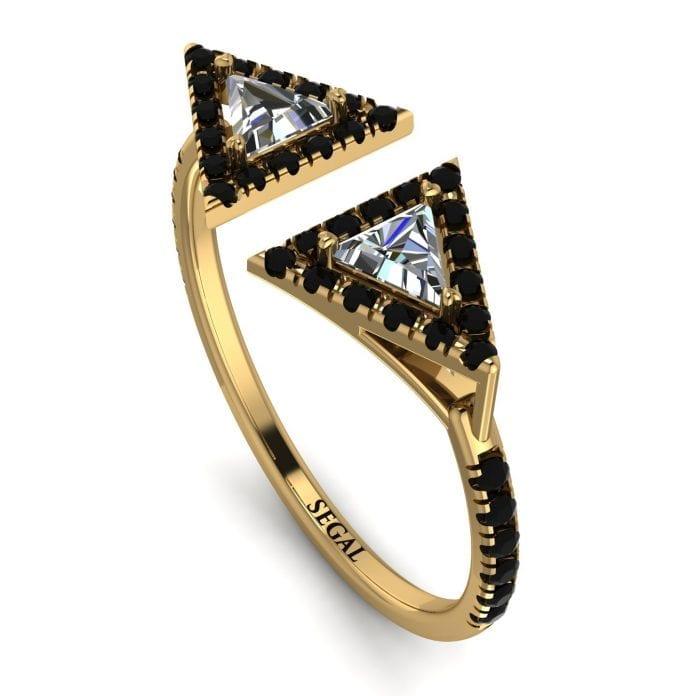 Triangle Diamond Open Ring
